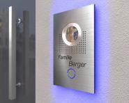 Video-Türsprechanlage 15x20cm mit Led-Hintergrundbeleuchtung