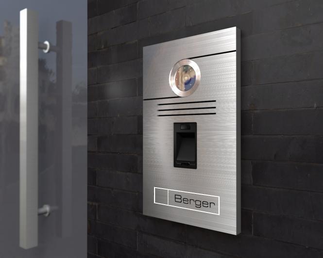 Video Türsprechanlage 15x27cm; mit Fingerprint