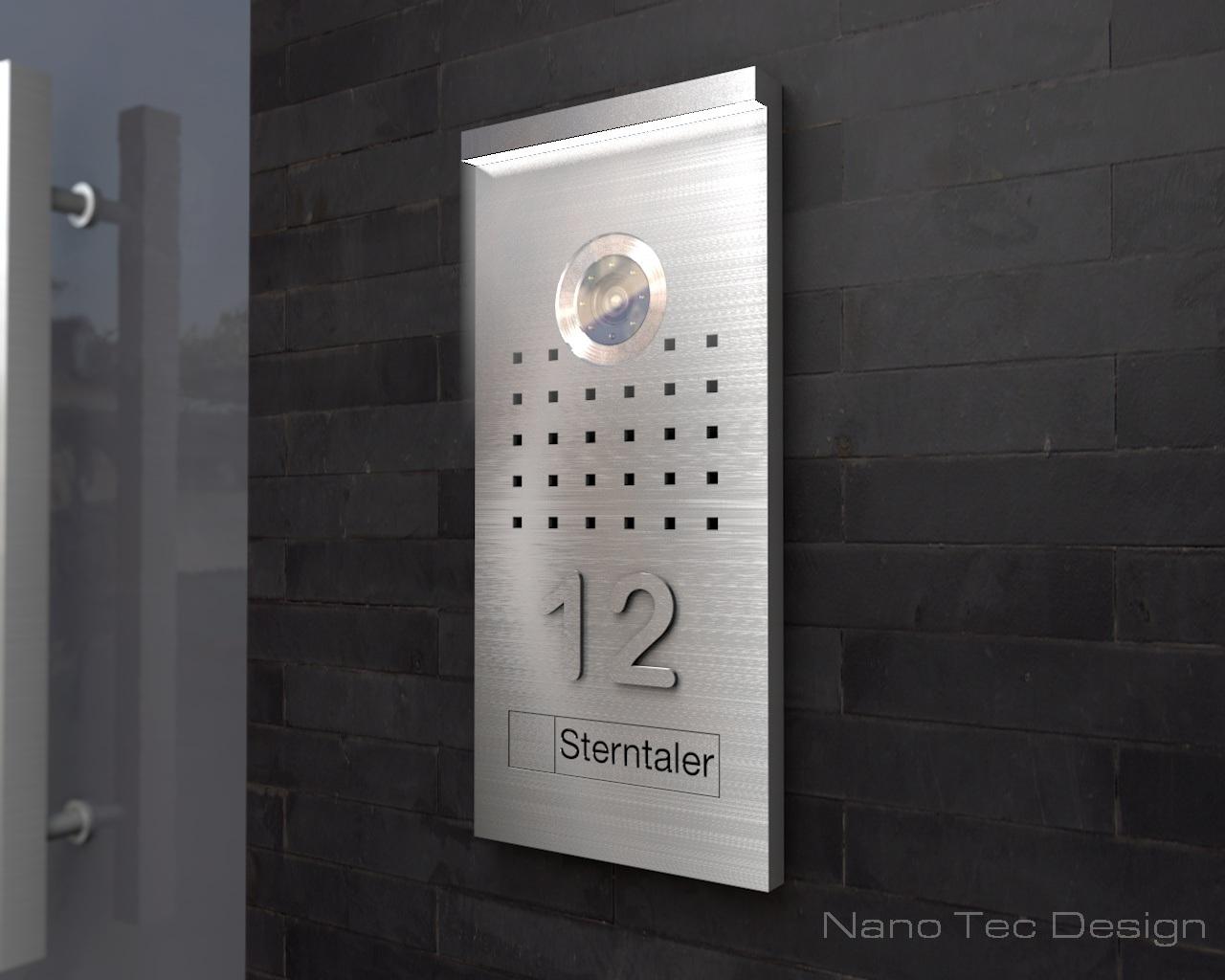 video t rsprechanlagen video t rsprechanlage 12 5x27cm. Black Bedroom Furniture Sets. Home Design Ideas